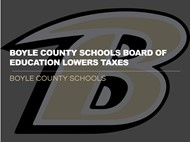 BOE Lowers taxes