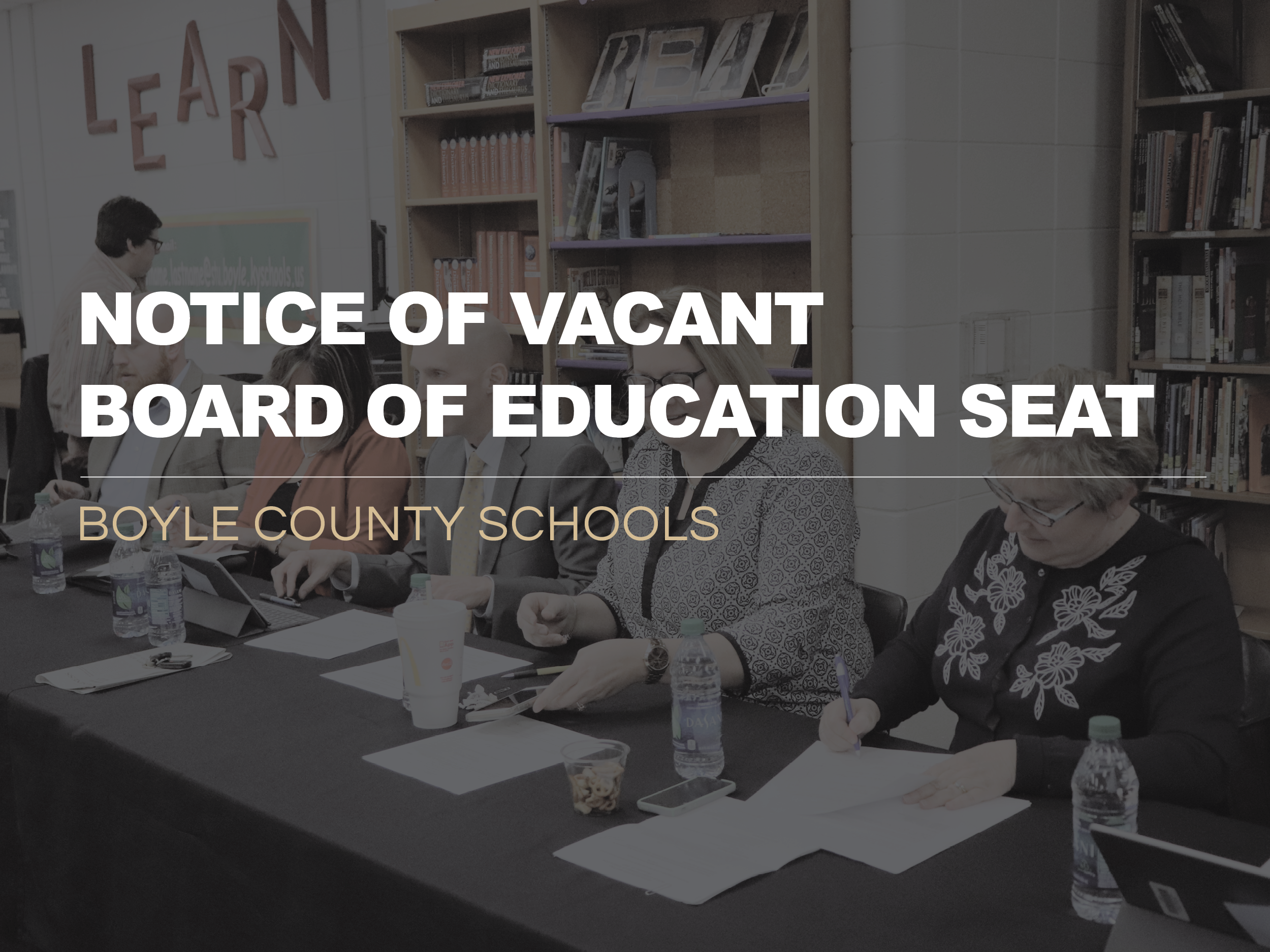 Notice of Vacant BOE Seat