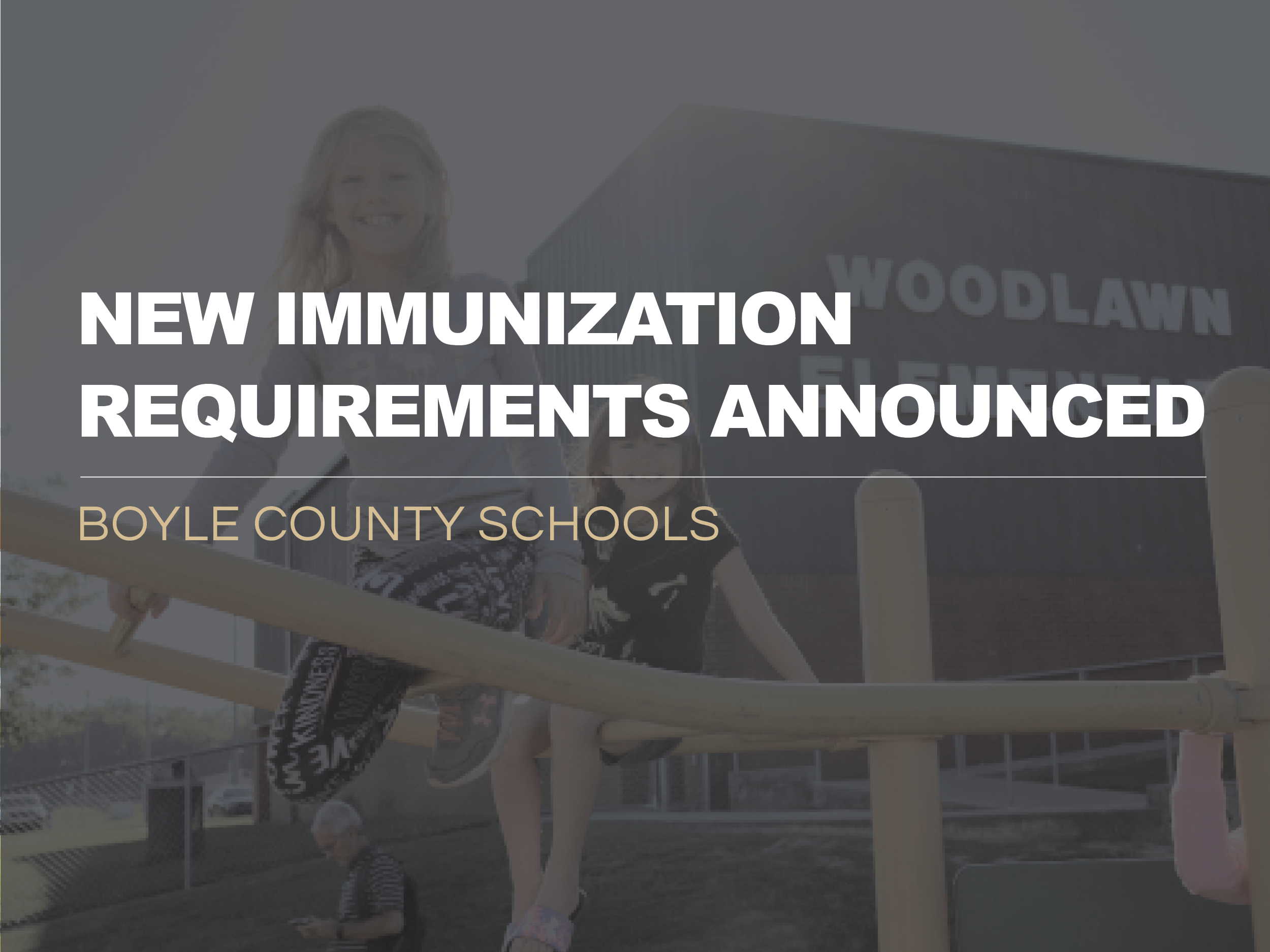New Immunization Requirements Released