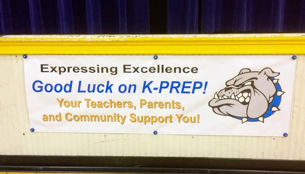 A banner was presented to the students of PES from the City of Perryville.